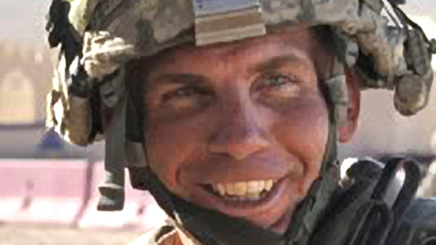 This Aug. 23, 2011, file photo, provided by the Defense Video & Imagery Distribution System shows Army Staff Sgt. Robert Bales during an exercise at the National Training Center at Fort Irwin, Calif.