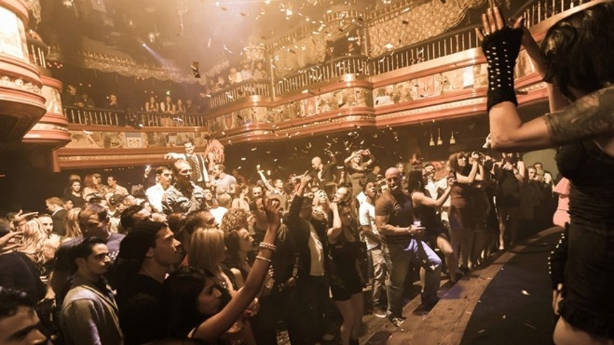 In this image provided by The Act nightclub, patrons enjoy a perfromance at the club located at the Palazzo hotel-casino on the Las Vegas Strip. The Palazzo is trying to terminate their 10-year agreement with the nightclub after 10 months of operation. They say the shows at the venue inside the Palazzo are so raunchy they violate obscenity laws.