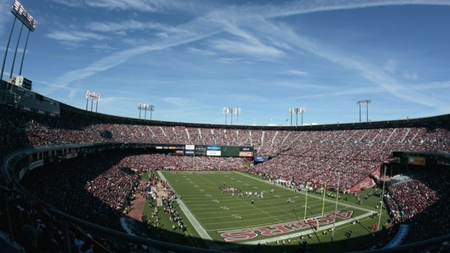 This Nov. 11, 2012 file photo shows Candlestick Park is shown during the first quarter of an NFL football game between the San Francisco 49ers and the St. Louis Rams in San Francisco. (AP Photo)