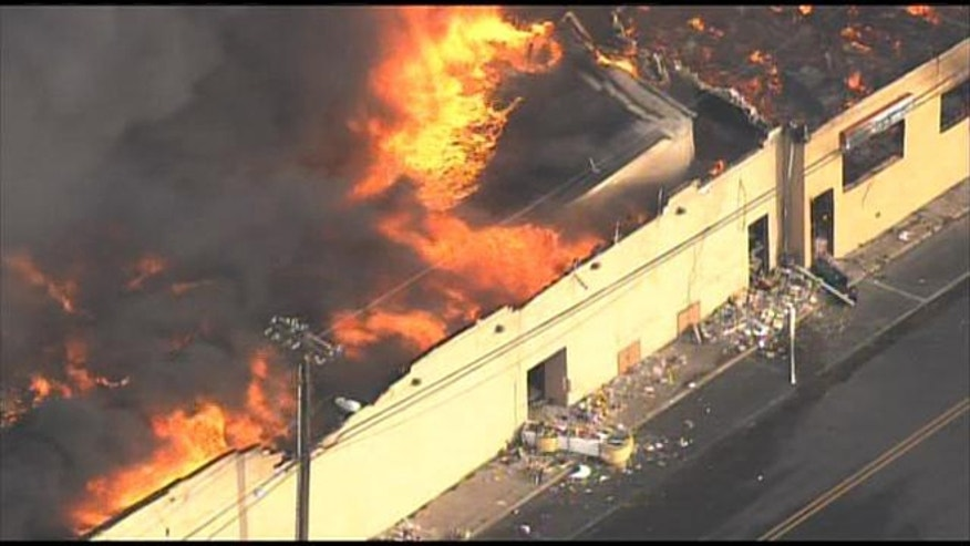 Sept. 12, 2013: A fire rages along a New Jersey boardwalk.