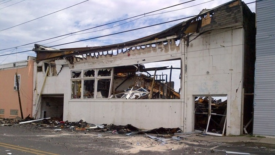 A local business damaged by Thursday's boardwalk fire in Seaside park, NJ