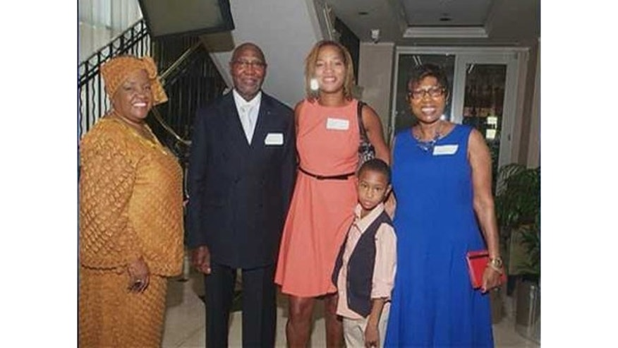 September 15, 2013: Willie and Carol Fowler (blue dress) with daughter Tamara (middle) and two attendees of the 'Fowler Family Celebration of Love' (MyFoxAtlanta.com)