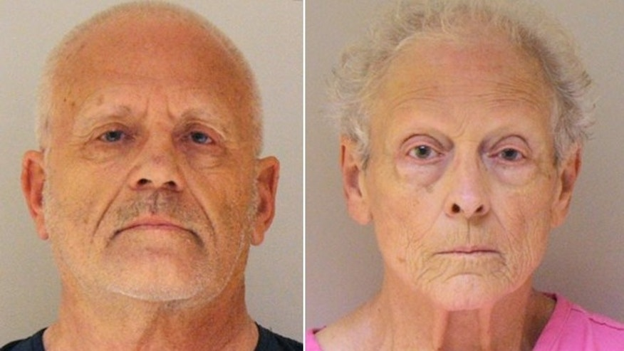 UNDATED: This booking photo provided by the Christian County, Mo., Sheriff's Office shows Gerald Uden, 71, and Alice Louise Uden, 74, of Chadwick, Mo.