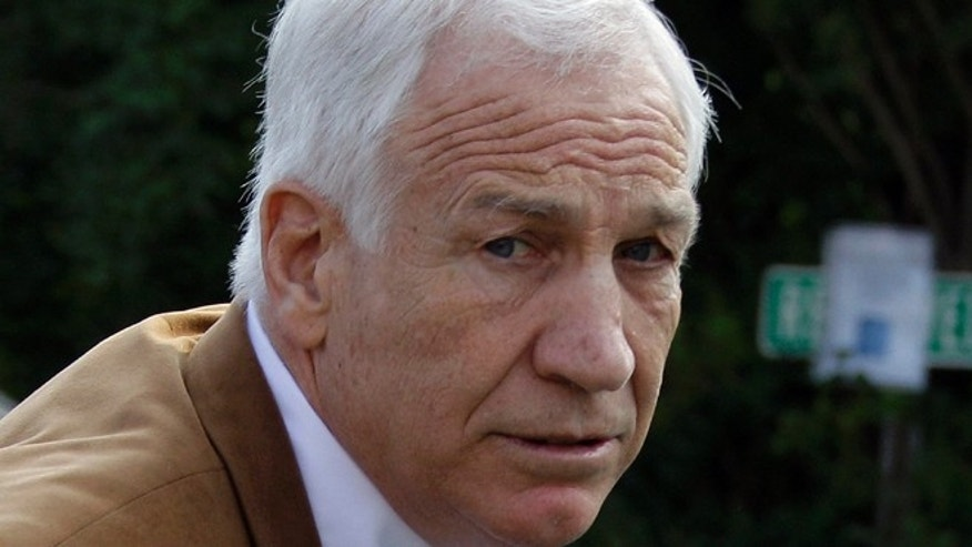 June 22, 2012: This file photo shows former Penn State assistant football coach Jerry Sandusky arriving at the Centre County Courthouse in Bellefonte, Pa.