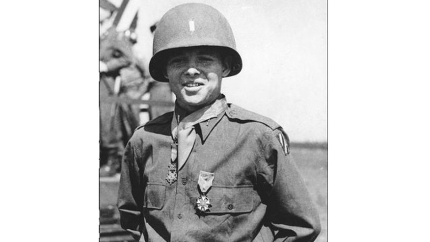 FILE: June 7, 1945: Audie Murphy is shown after receiving Congressional Medal of Honor and the Legion of Merit in Salzburg, Austria.