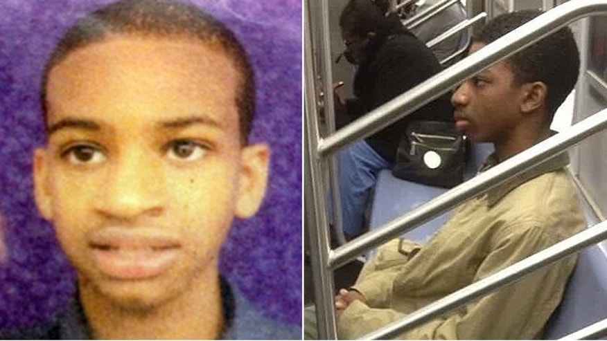 Is this Avonte Oquendo? The photograph on the right, obtained Wednesday by FoxNews.com, was reportedly taken by a teenager who thought the boy riding an E or F line train on Tuesday was Avonte Oquendo, left, who was last seen on Oct. 4 walking out of his school in Queens. (Courtesy to FoxNews.com/National Center for Missing & Exploited Children)