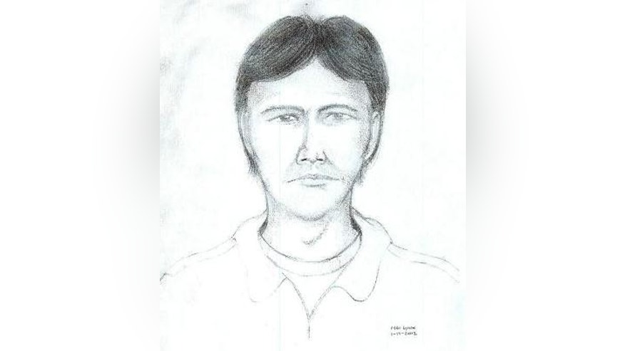 Spartanburg County deputies released this sketch of a man investigators want to talk to about the unsolved killings of four people on the Superbike Motorsports motorcycle shop in Chesnee, S.C., in November 2003. Authorities said he was in the shop less than an hour before the shootings.  (AP Photo/Spartanburg County Sherrif's Department)