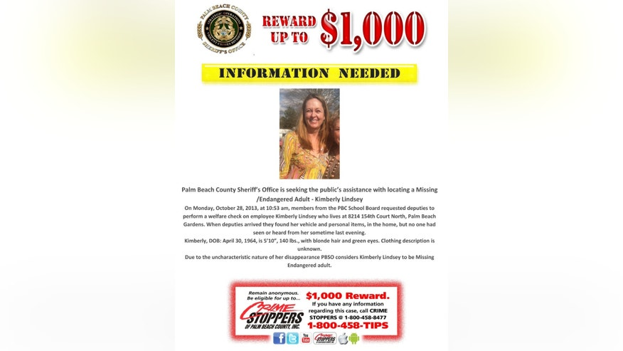 This police handout is a missing person poster for Kimberly Lindsey.