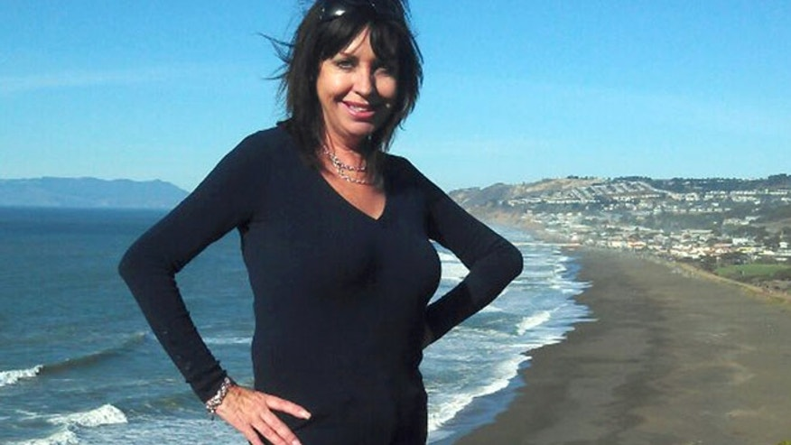 This photo shows Lynne Spalding, 57, a native of England who was found dead in a rarely used stairwell at San Francisco General Hospital last month.