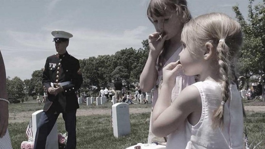 The documentary traces the shared pain of two generations of children who lost parents to war. (goldstarchildren.org)