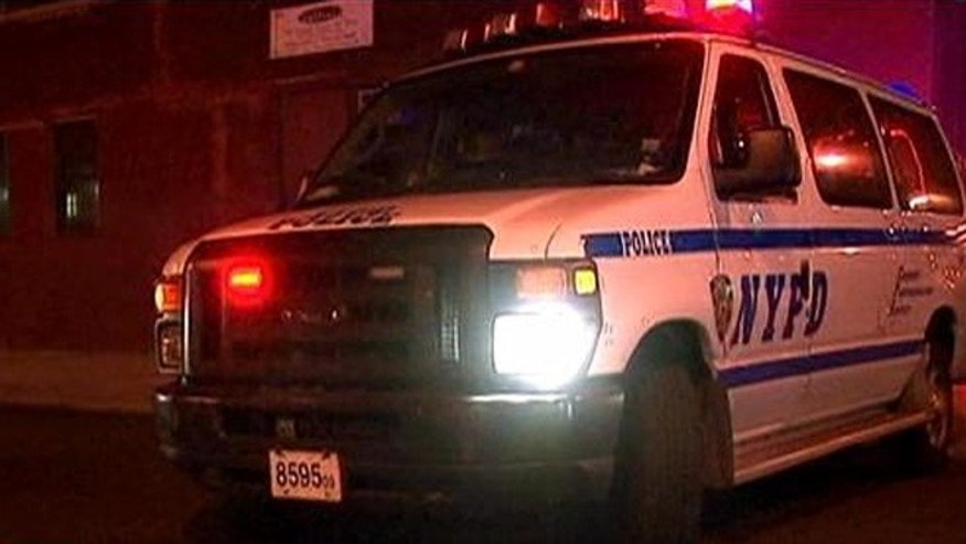 Nov. 11, 2013: A New York Police Department vehicle outside of the scene of a shooting in Brooklyn.