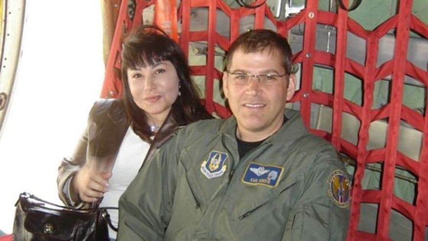 Prosecutors say Claudia Sobral, (l.), killed her husband, decorated Air Force Reserves pilot Karl Hoerig, (r.), and fled to Brazil. (Hoerig family)