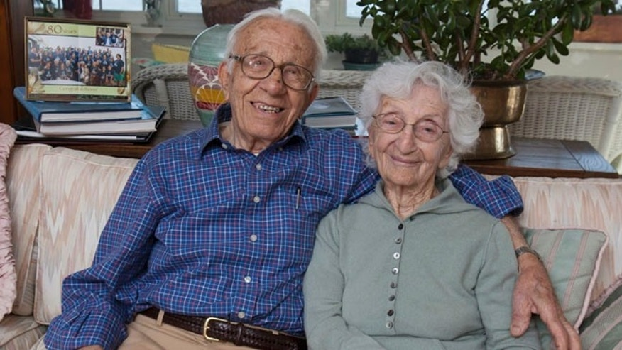 Nov. 20, 2013: John Betar, 102, and his wife Ann, 98, are seen at their home in Fairfield, Conn. The couple who eloped in 1932 and will be celebrating their 81st wedding anniversary on Nov. 25, recently received the longest-marriage award from the Worldwide Marriage Encounter.