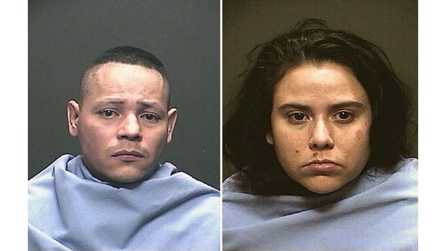 November 27, 2013: These images show Fernando and Sophia Richter, who face multiple charges of kidnapping and child abuse after allegedly holding Sophia Richter's three daughters captive in their home for approximately two years. (AP Photo/Tucson Police Department)