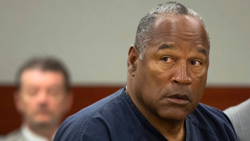 May 16, 2013: O.J. Simpson listens during an evidentiary hearing in Clark County District Court in Las Vegas.