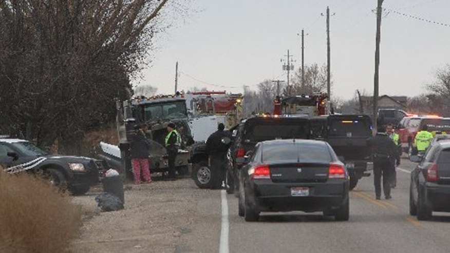 Dec. 5, 2013: Authorities respond after a dump truck rear-ended an elementary school bus in Kuna, Idaho, killing one student.