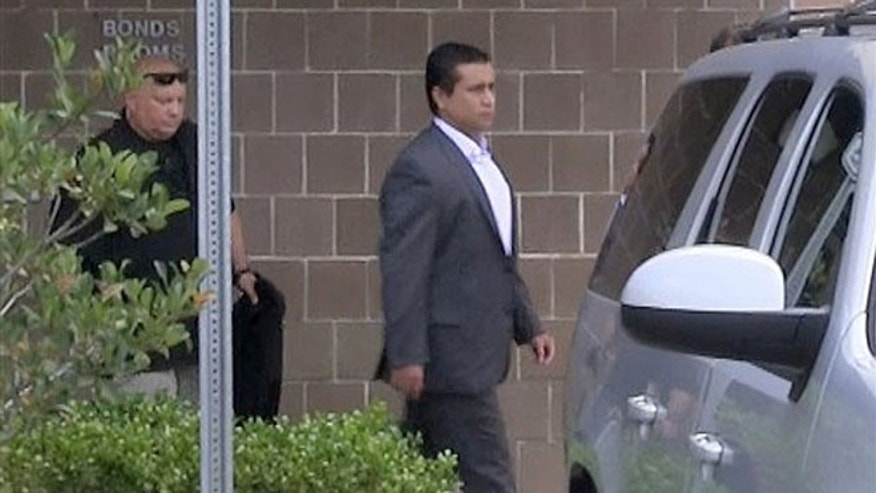 July 6, 2012: In this still image taken from video, George Zimmerman leaves the Seminole County Jail after posting bail in Sanford, Fla.