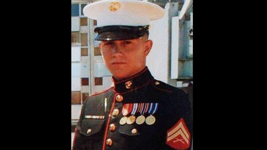 This undated photo provided by the family via attorney Aaron J. Freiwald shows U.S. Marine Brian LaLoup who died in 2012 while stationed in Greece. LaLoup's parents, Coatesville Pa. residents said when his body arrived home in Pennsylvania his heart was missing, and they've sued the Department of Defense. On Tuesday, Dec. 10, 2013, his mother, Beverly LaLoup, said a heart was later sent to them, but it wasn't her son's.