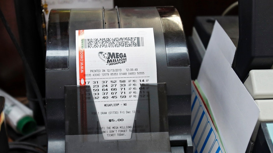 Mega Millions lottery tickets print at the Bi Rite market in Olmsted Township, Ohio on Friday, Dec. 13, 2013. Superstition didn't deter players hoping that Friday the 13th will bring them good luck in the Mega Millions game as heavy sales prompted lottery officials to boost the estimated jackpot to $425 million. (AP Photo/Mark Duncan)