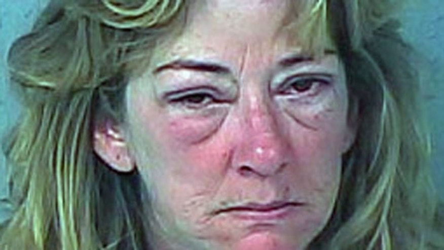 This mug shot shows Brenda Shryock, who police say drove drunk to pick up her son from school.