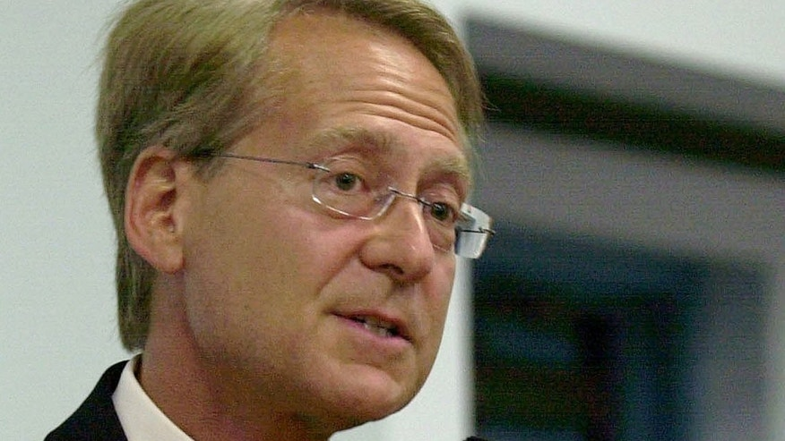 FILE - In this May 6, 2004 file photo, Miami attorney Larry Klayman speaks in Melbourne, Fla. Larry Klayman might not be an all-around household name, but it's a good bet he has sued someone who is. U.S. District Court Judge Richard Leon on Monday granted Klayman's request for an injunction blocking the collection of phone data for Klayman and co-plaintiff Charles Strange. The judge stayed the action pending an expected government appeal, but the ruling in his favor in federal court puts Klayman back in the headlines with his legal activism. (AP Photo/Peter Cosgrove, File)