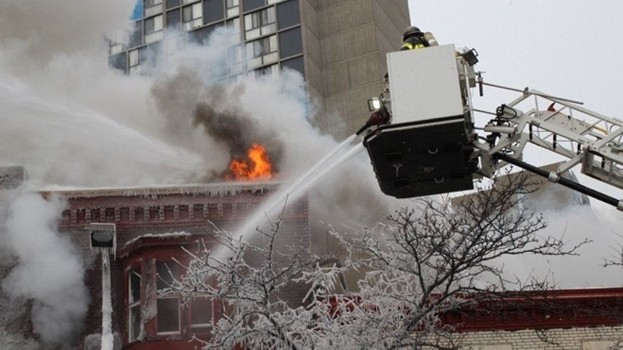 Jan.1: Crews battle a fire at a  Minneapolis apartment.