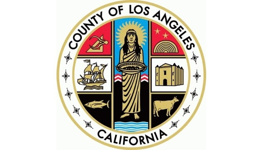 FILE: The official seal of Los Angeles County, California, is shown.