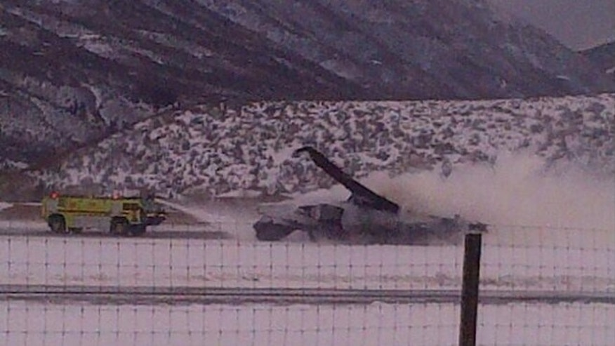 Jan. 5, 2014: A fiery plane crash at Aspen-Pitkin County Airport in Colorado Sunday killed at least one person, authorities said.