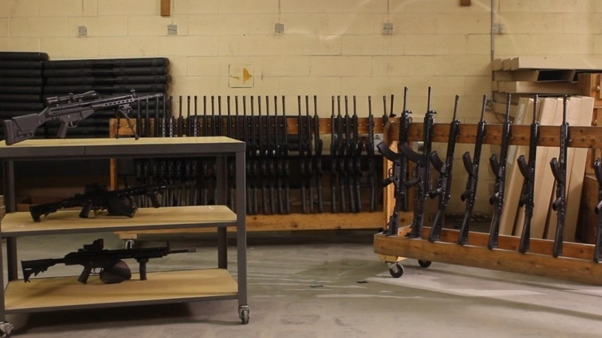 Josh Fiorini, CEO of PTR Industries, formerly of Bristol., Conn., told FoxNews.com that the firm's new facility in Aynor, S.C., remains a week away from production, but 11 local employees began sorting inventory on Monday along with a team of training personnel from Connecticut. The manufacturer of military-style rifles announced in April that it intended to leave Bristol following the passage of gun control legislation after the shooting deaths of 26 people, including 20 children, at Sandy Hook Elementary in Newtown. (Courtesy: PTR Industries)