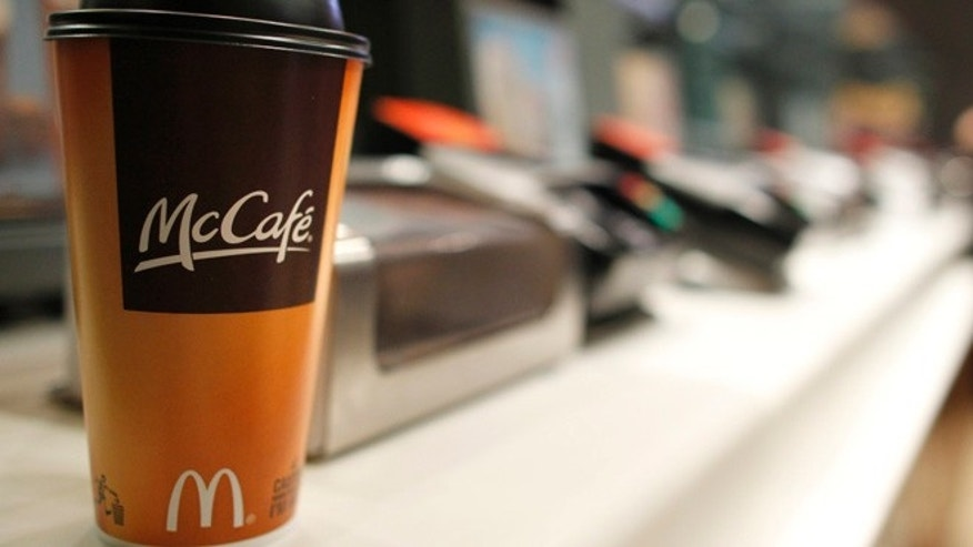 FILE 2011: A cup of coffee is seen on a counter at a McDonald's restaurant in New York