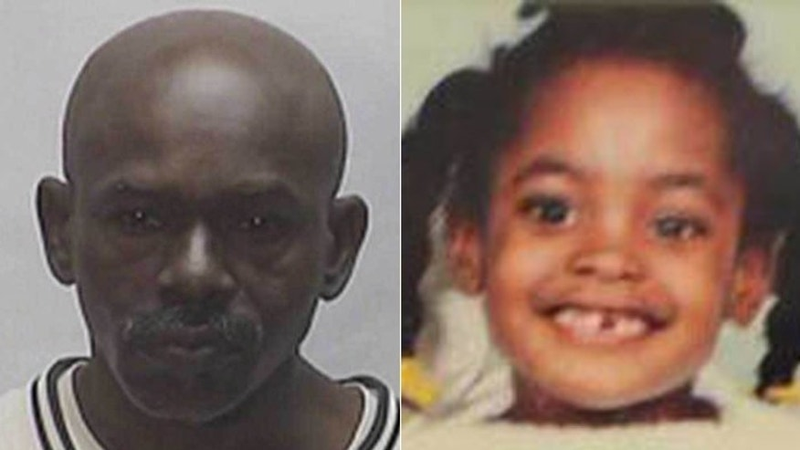 Donald Preston Ferguson, left, was arrested last week in the 1990 murder of 7-year-old Shalonda Poole, right.