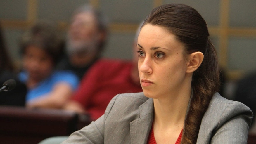 FILE - In this March 3, 2011, file photo, Casey Anthony, 24, listens to testimony during the last day of hearings during her murder trial, in Orlando, Fla. The case transfixed the nation, and many were angry when Anthony was acquitted of murdering her 2-year-old daughter. (AP Photo/Red Huber, Pool, File)