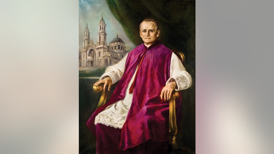 "In this undated photo of a painting provided by Our Lady of Victory Homes of Charity in Buffalo, N.Y., Father Nelson Baker is shown. The ongoing effort to elevate to sainthood the beloved Buffalo-area priest known as the ""Padre of the Poor"" has required patience and deep pockets. Expenses have approached $100,000, in an effort that has exceeded 25 years and fundraising continues. (AP Photo/Our Lady of Victory  Homes of Charity) NO SALES"