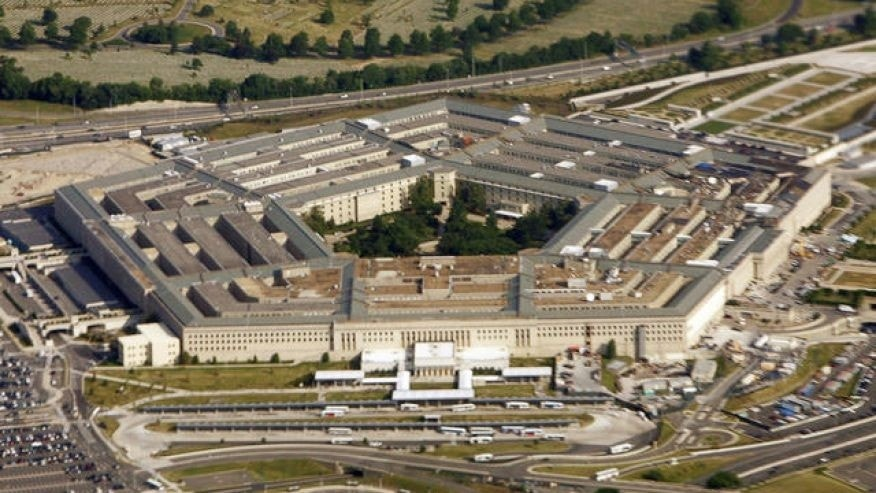 An aerial view of the Pentagon (AP)