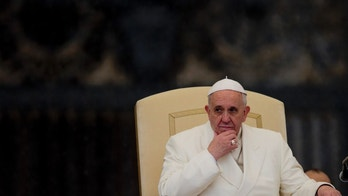 Feb. 5, 2014: Pope Francis listens to his speech being translated in several languages, during his weekly general audience in St. Peter's Square at the Vatican.