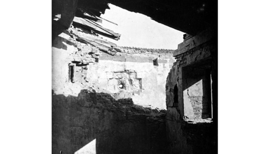 An undated photo shows damage to Fort San Antonio Abad in Manila, Philippines, caused by eight-inch shells from the U.S. Navy cruiser Olympia (C-6) during the Spanish-American War.