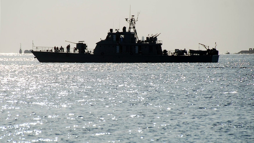 Dec. 8, 2012: One of two Iranian navy warships arrives to dock at Port Sudan in the Red Sea state.