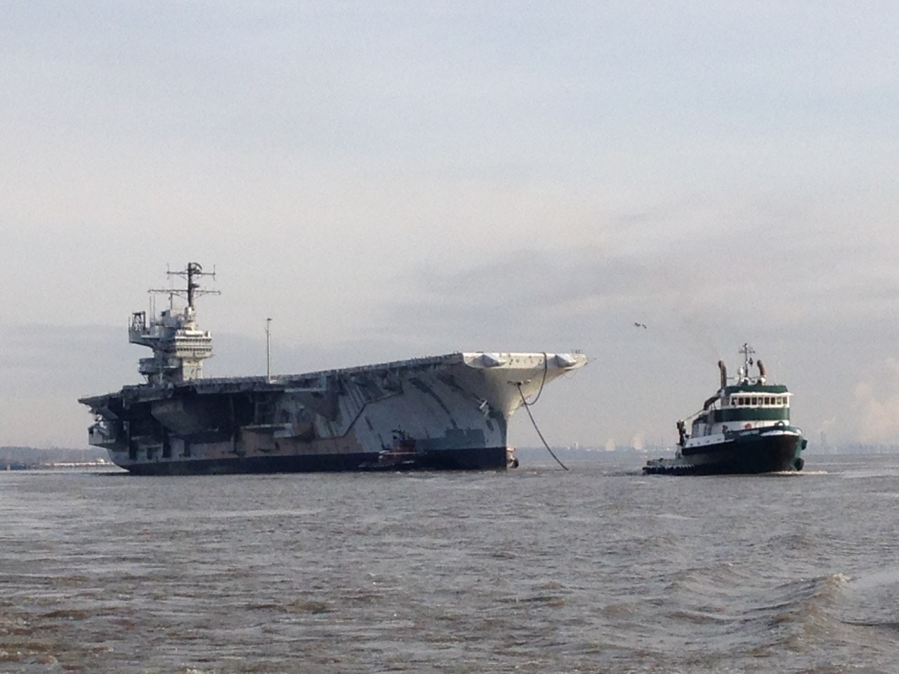 Scrapped for a penny: USS Forrestal, Navy's first supercarrier, begins final voyage