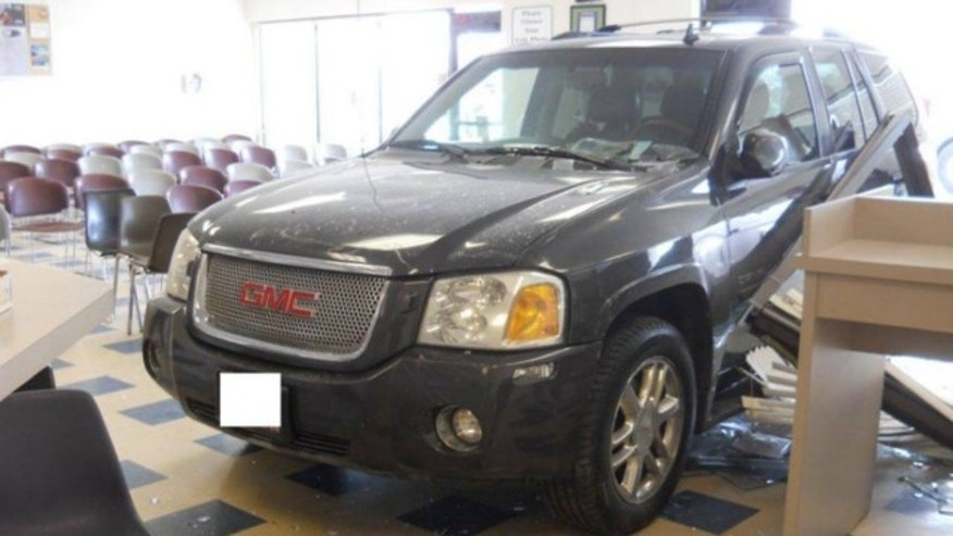 Feb. 11, 2014: A10-year-old girl drove her mother's SUV into a Division of Motor Vehicles office in the Denver suburb of Parker, authorities say.