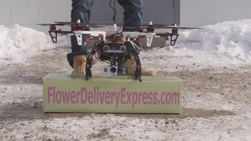 Wesley Berry, CEO of FlowerDeliveryExpress.com, told FoxNews.com his company delivered a flower via drone on Saturday, but future testing was scuttled by FAA officials. (Courtesy: FlowerDeliveryExpress.com)