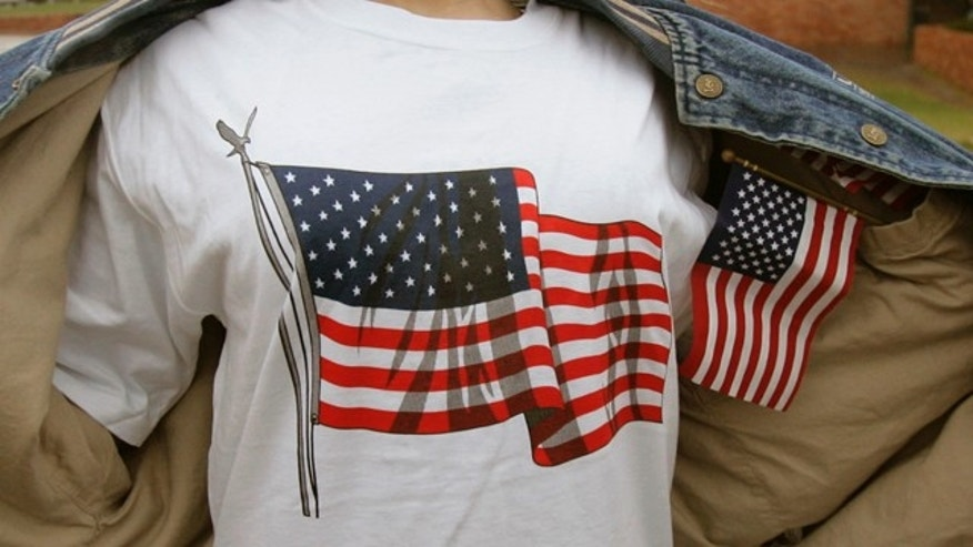 A federal appeals court says high school officials in Northern California acted appropriately when they ordered students to turn American flag shirts, such as this one, inside out due to the potential for violence.