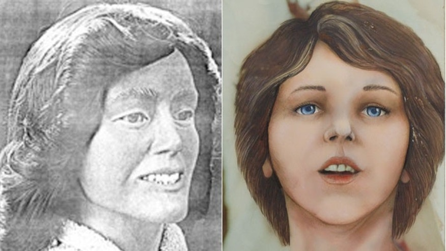 "Two facial reconstructions of what the victim, nicknamed the ""Lime Lady,"" might have looked like at the time of her death."