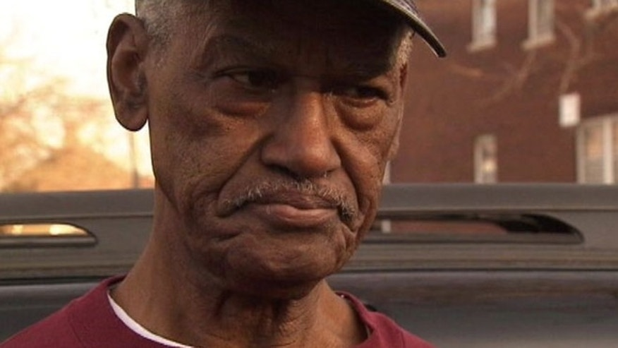 "George Bradford, 82, said after he told the intruder inside his home to leave and the man refused, he ""let him have it."""