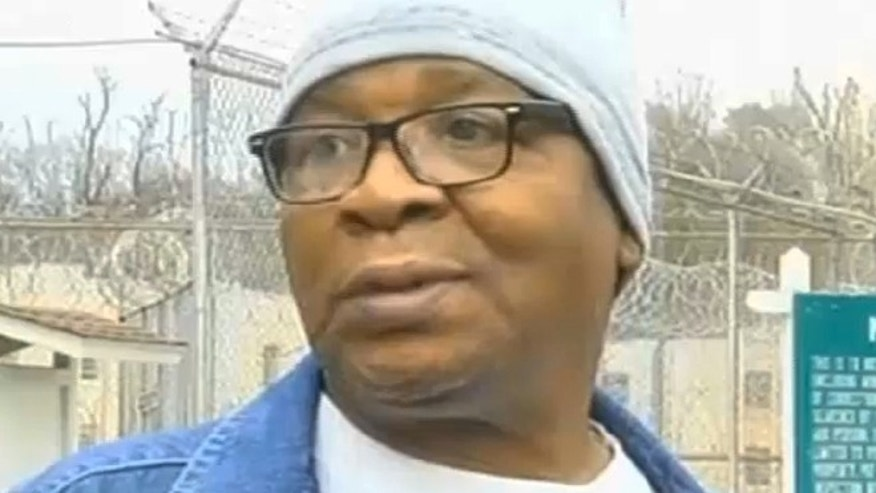 March 11: In this frame grab from video provided by WAFB-TV 9, Glenn Ford, 64, talks to the media as he leaves a maximum security prison in Angola, La.