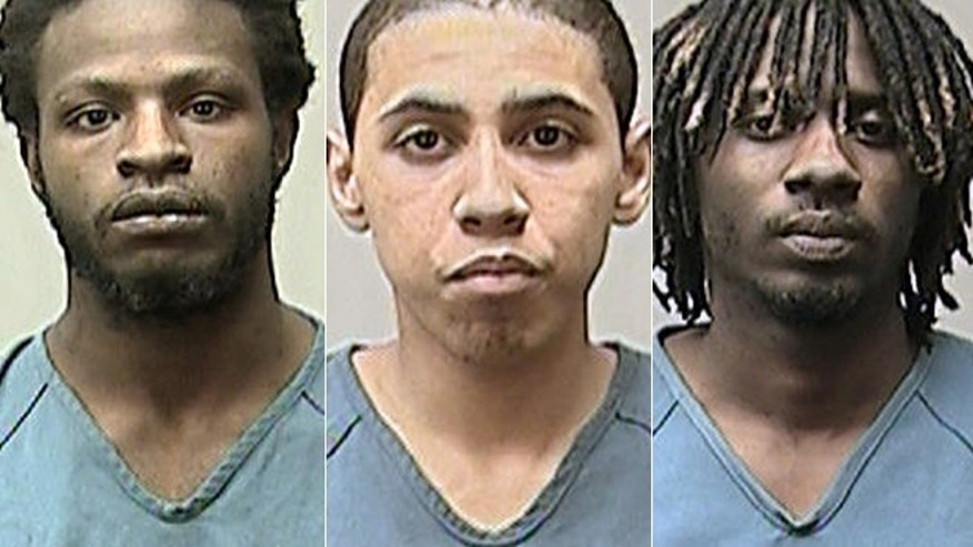 From right, Michon A. Thomas, Kristopher J. Hughes and Eric D. Bass face sexual assault and armed robbery charges after police said they broke into a Madison home looking for money, found a man and his wife lying in bed and assaulted the woman, who was six months pregnant, after beating her husband.