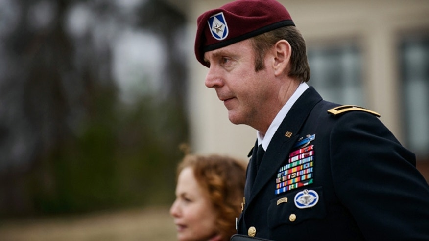 March 4, 2014: Brig. Gen. Jeffrey Sinclair leaves the courthouse following a day of motions at Fort Bragg, N.C.