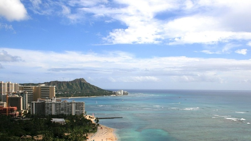 Kahanamoku Beach in Waikiki, Hawaii. (AP Photo/Hilton Hawaiian Village Beach Resort )