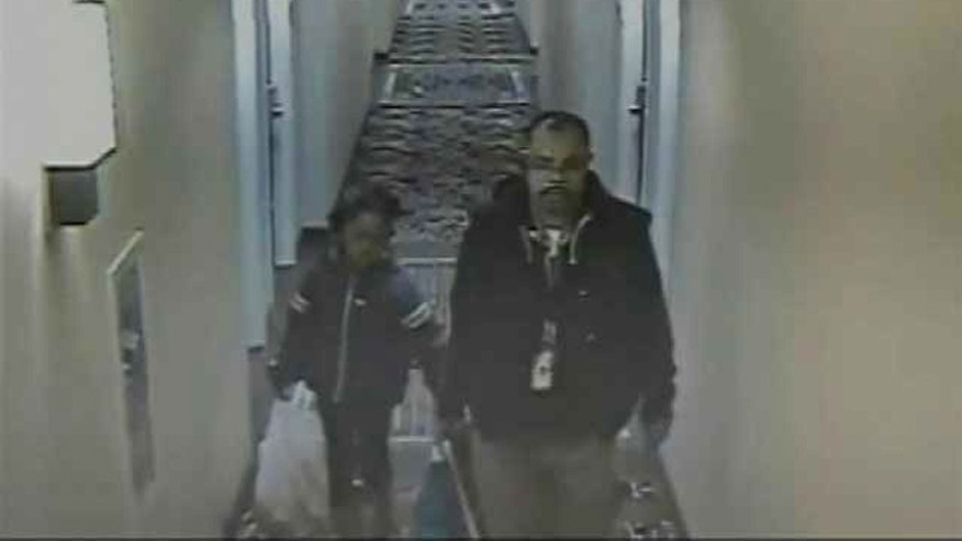 March 25, 2014: Police have released a new surveillance video showing Relisha Rudd and her suspected abductor, Khalil Tatum, at a Holiday Inn Express in Washington, D.C., on Feb. 26, 2014.
