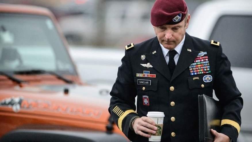 March 19, 2014: Brig Gen. Jeff Sinclair arrives to the Fort Bragg courthouse, for his sentencing hearing in Fort Bragg, N.C.