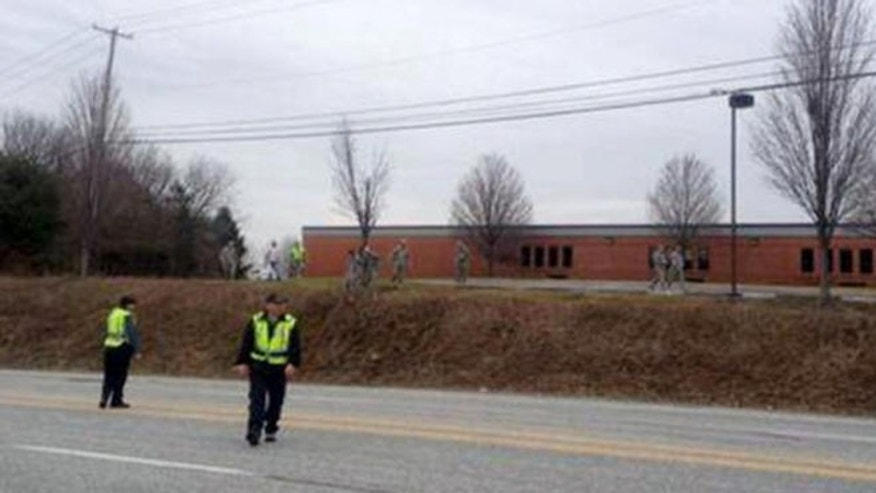 April 3: Authorities responded to news of a military drone crash landing in front of an elementary school.